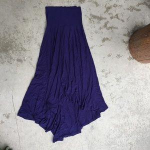 Sanctuary Purple High-Low Maxi Skirt